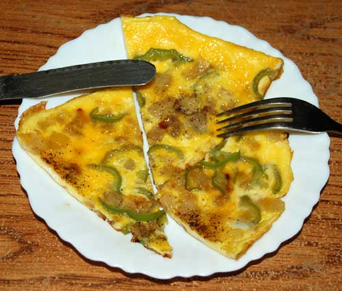 Egg Omelete with Karella