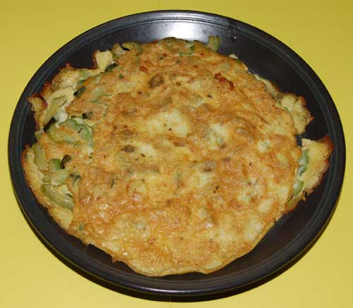 Goudas recipes_egg omlette with_karella