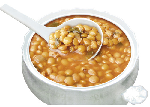 Green Lentils Soup_ Bean Salad _ Mr Goudas Recipes