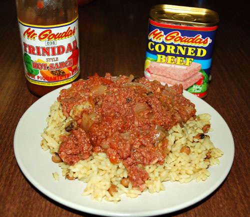 Goudas corn beef and rice
