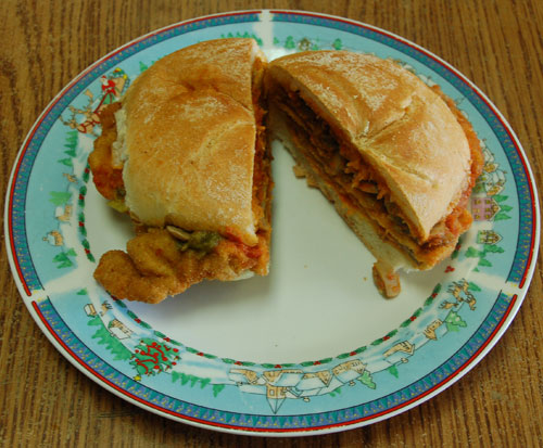 Mr. Goudas Recipes - Raccoon Veal Cutlet Sandwich Once we let it go he would be back tomorrow expecting a veal cutlet sandwich with a lettuce salad on the side.""