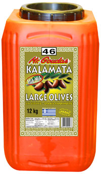 Mr. Goudas Recipes - 046 Kalamata Olives Large 12KG
