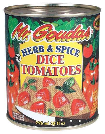 Mr Goudas Herb and Spice dice Tomatoes_Mr Goudas Recipes_Black Eye Peas Baked
