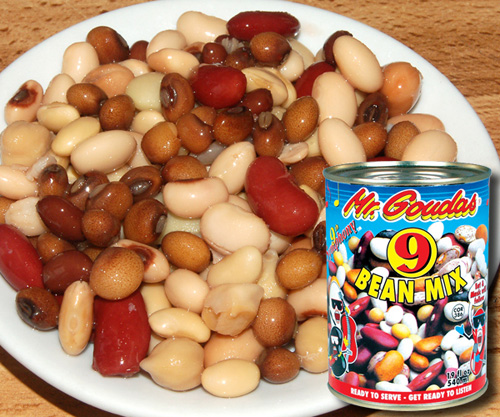 CORNED BEEF and  BEANS DELIGHT_ Mr Goudas Products_Mr Goudas Recipes_Mr. Goudas 9 bean mix