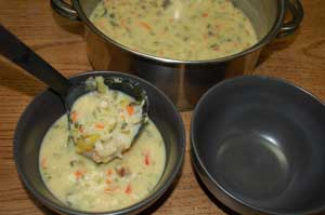vegetable soup with egg and lemon_ Mr Goudas Recipes